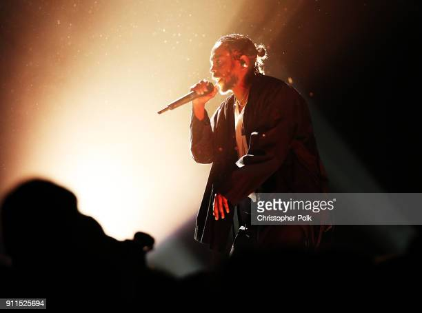 Recording artist Kendrick Lamar performs onstage during the 60th Annual GRAMMY Awards at Madison Square Garden on January 28 2018 in New York City