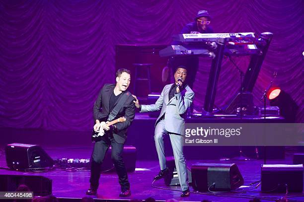 Recording Artist Kenny Babyface Edmonds perfors at the 947 The Wave's Soulful Christmas 2014 at Nokia Theatre LA Live on December 13 2014 in Los...