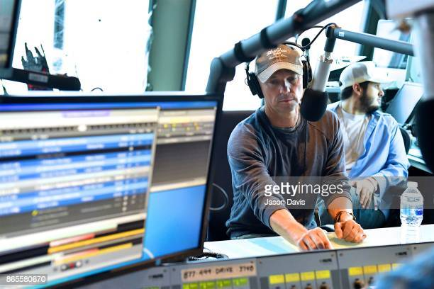 Recording Artist Kenny Chesney visits SiriusXM Host Storme Warren at SiriusXM Studios on October 23 2017 in Nashville Tennessee