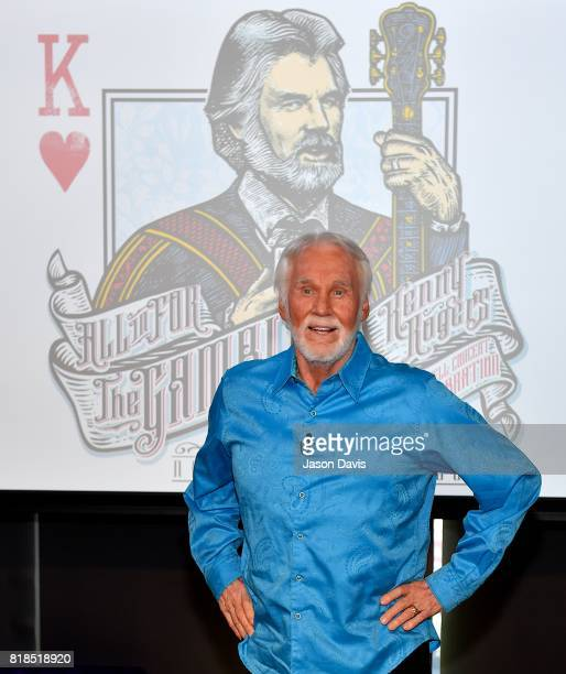Recording artist Kenny Rogers announces All In For The Gambler Kenny Rogers' Farewell Concert Celebration at WME on July 18 2017 in Nashville...