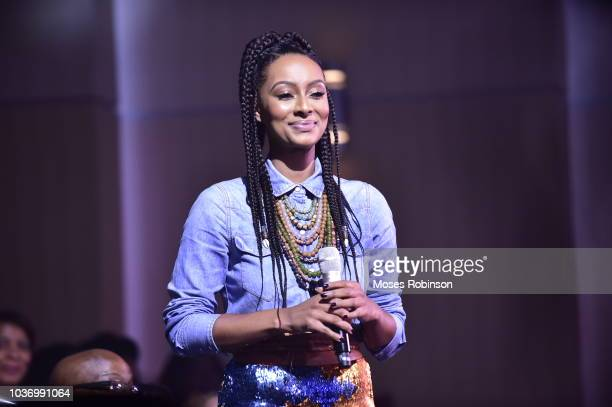 Recording Artist Keri Hilson attend BET her fights Breast Cancer at Riverside Epicenter on September 20 2018 in Atlanta Georgia