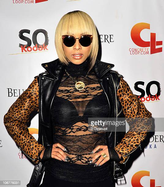Recording artist Keri Hilson attends the 5th anniversary and relaunch of Concreteloopcom at Hiro Ballroom at The Maritime Hotel on November 11 2010...