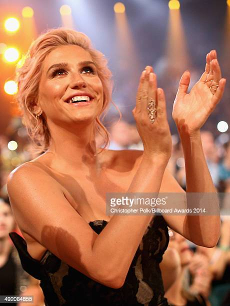 Recording artist Kesha attends the 2014 Billboard Music Awards at the MGM Grand Garden Arena on May 18 2014 in Las Vegas Nevada