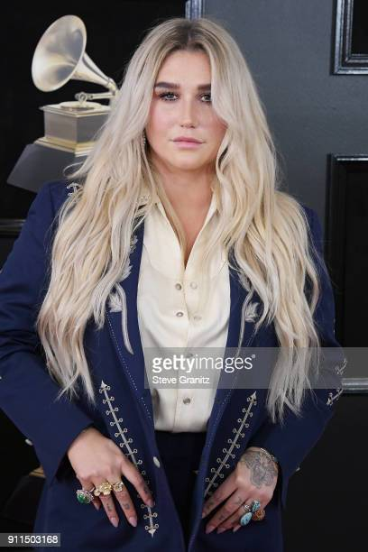 Recording artist Kesha attends the 60th Annual GRAMMY Awards at Madison Square Garden on January 28 2018 in New York City
