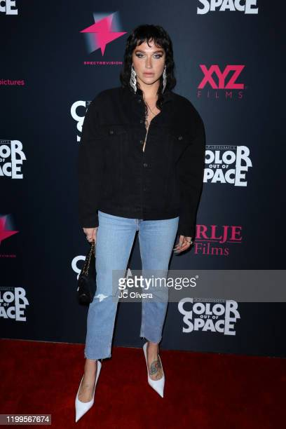 Recording artist Kesha attends the special screening of Color Out Of Space at the Vista Theatre on January 14 2020 in Los Angeles California