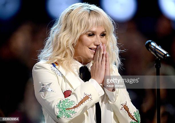 Recording artist Kesha performs onstage during the 2016 Billboard Music Awards at TMobile Arena on May 22 2016 in Las Vegas Nevada
