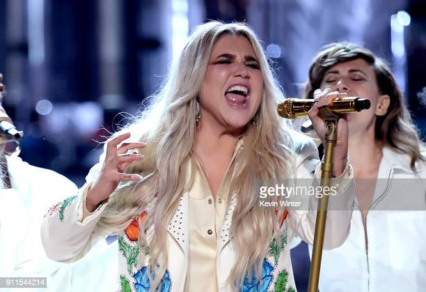 Recording artist Kesha performs onstage during the 60th Annual GRAMMY Awards at Madison Square Garden on January 28, 2018 in New York City.