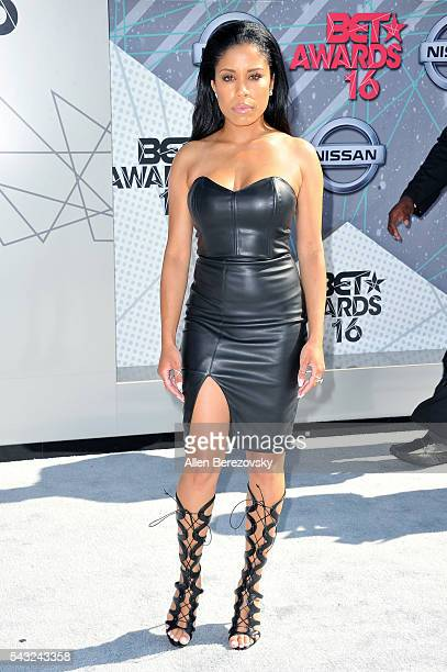 Recording artist Keshia Chante attends the 2016 BET Awards at Microsoft Theater on June 26 2016 in Los Angeles California