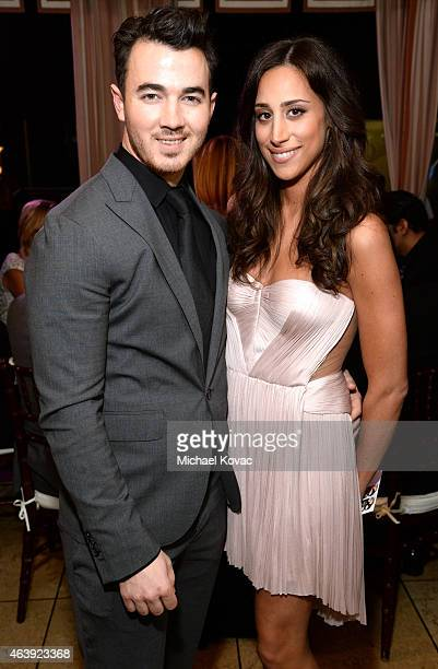 Recording artist Kevin Jonas and Danielle Jonas attend the 8th annual Hollywood Domino Gala presented by BOVET 1822 benefiting artists for peace and...