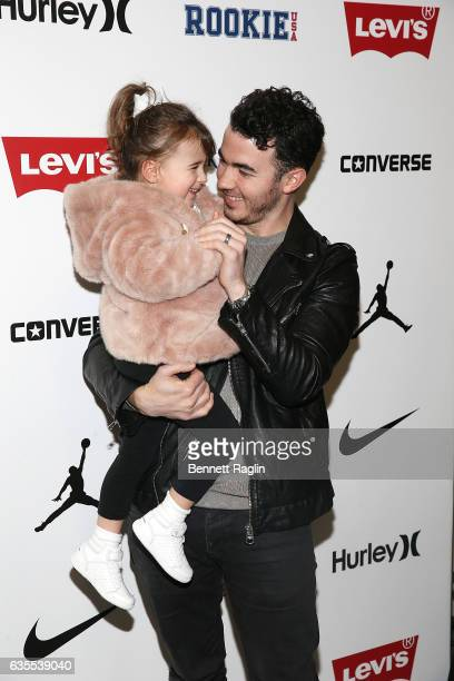 Recording artist Kevin Jonas and daugther Alena Jonas attend the Rookie USA Fashion Show during New York Fashion Week The Shows at Skylight Clarkson...