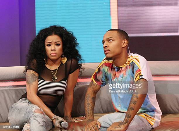 Recording artist Keyshia Cole and 106 Park host Bow Wow attend 106 Park at 106 Park Studio on October 2 2013 in New York City