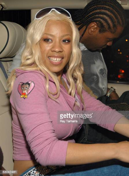 Recording artist Keyshia Cole attends Kanye West's Birthday Party at Bulgari June 8 2005 in New York City