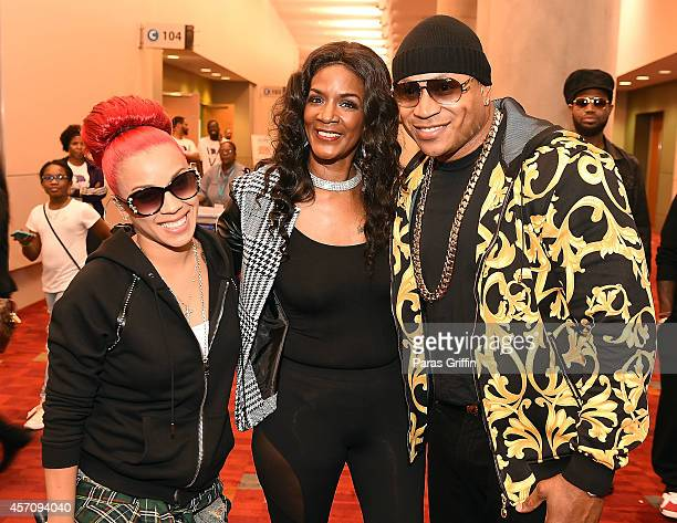 Recording artist Keyshia Cole television personality Momma Dee and rapper/actor LL Cool J attend the 2014 V103 For Sisters Only at Georgia World...