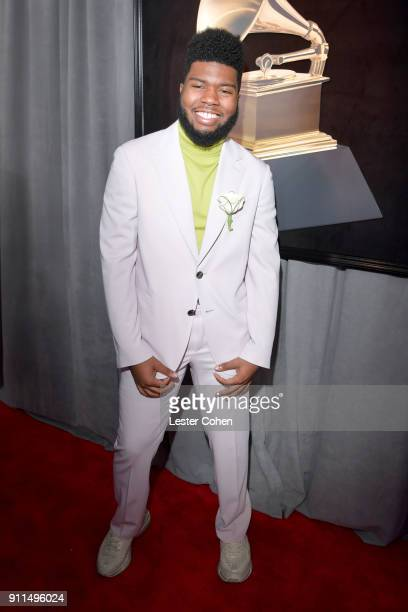 Recording artist Khalid attends the 60th Annual GRAMMY Awards at Madison Square Garden on January 28 2018 in New York City