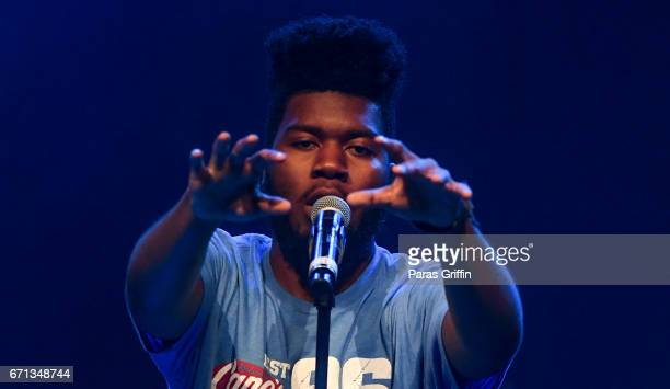 Recording artist Khalid performs on stage during VJam Teen Concert at Center Stage on April 21 2017 in Atlanta Georgia