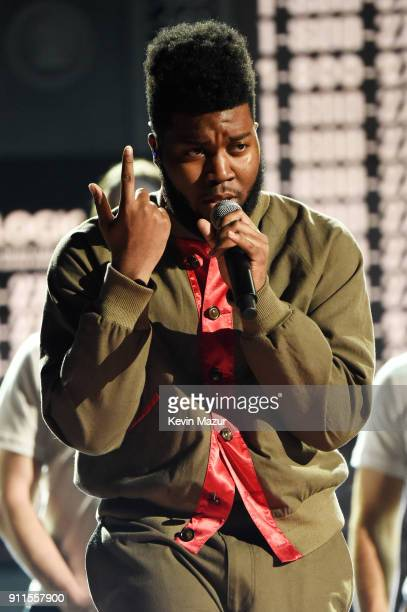 Recording artist Khalid performs onstage during the 60th Annual GRAMMY Awards at Madison Square Garden on January 28 2018 in New York City