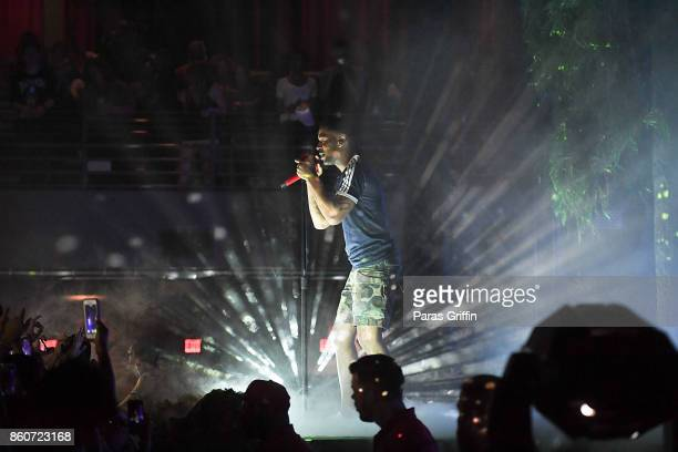 Recording artist Kid Cudi perform in concert during 'Passion Pain Demon Slayin' World Tour' at Coca Cola Roxy on October 12 2017 in Atlanta Georgia