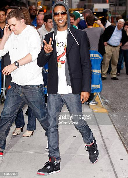 Recording Artist Kid Cudi visits Late Show with David Letterman at the Ed Sullivan Theater on September 8 2009 in New York City