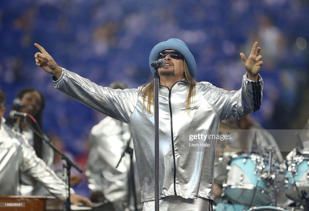 cc5095ba Recording artist Kid Rock performs during the half time show of the ...