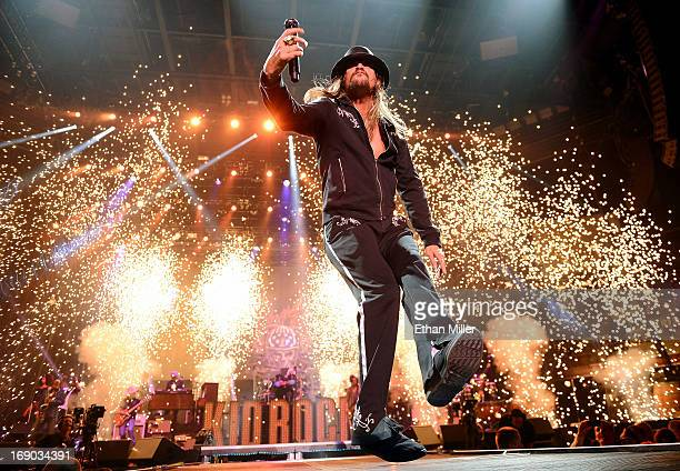 Recording artist Kid Rock performs during Tiger Jam 2013 at the Mandalay Bay Events Center on May 18 2013 in Las Vegas Nevada
