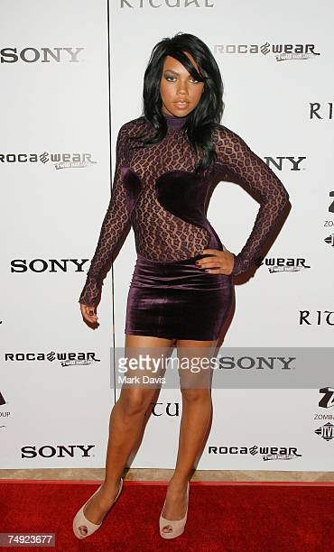 Recording artist Kiely Williams arrives to Zomba Label Group's PreBET Awards Party featuring Ciara held at Ritual Nightclub on June 25 2007 in...