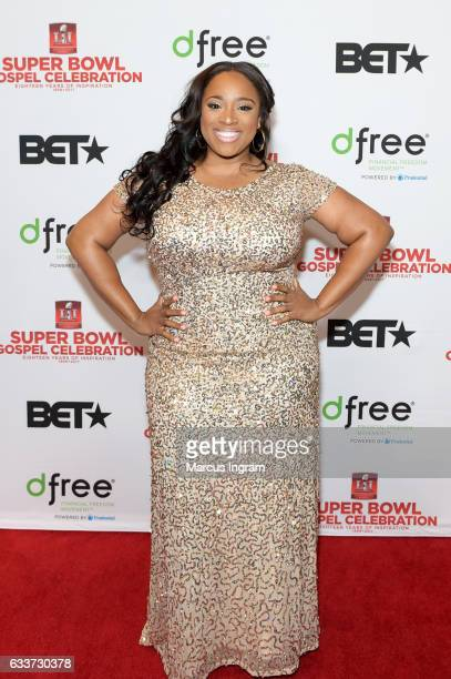 Recording artist Kierra Sheard attends the BET Presents Super Bowl Gospel Celebration at Lakewood Church on February 3 2017 in Houston Texas