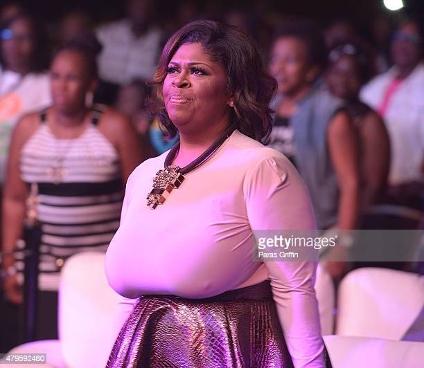 Recording artist Kim Burrell attend the ESSENCE AllStar Gospel Tribute to Kim Burrell at the 2015 Essence Music Festival on July 5 2015 at Ernest N...