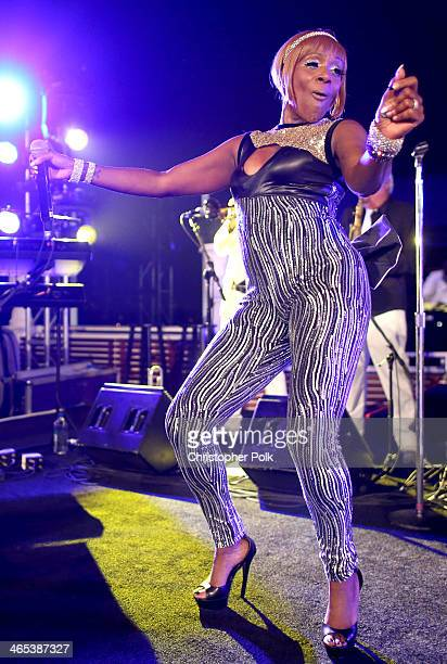 Recording artist Kimberly Davis of Chic attends the Warner Music Group annual GRAMMY celebration on January 26 2014 in Los Angeles California