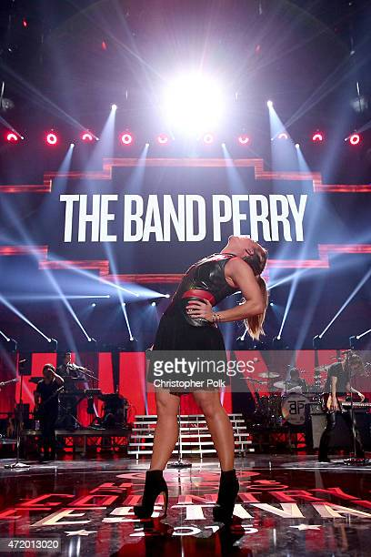Recording artist Kimberly Perry of The Band Perry performs onstage during the 2015 iHeartRadio Country Festival at The Frank Erwin Center on May 2...