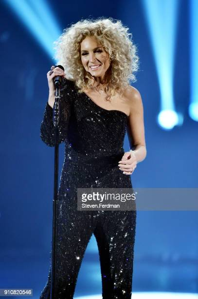 Recording artist Kimberly Schlapman of music group Little Big Town performs onstage during MusiCares Person of the Year honoring Fleetwood Mac at...
