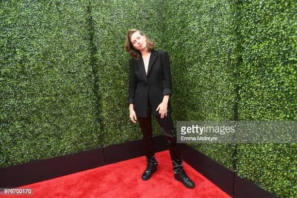 Recording artist King Princess attends the 2018 MTV Movie And TV Awards at Barker Hangar on June 16 2018 in Santa Monica California