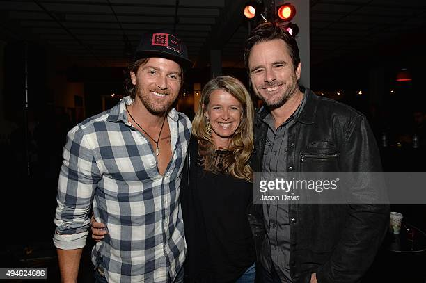 Recording Artist Kip Moore along with Actor Chip Esten and wife Patty Hanson atten Gibson's Best Year Ever 2016 Launch Event at Gibson Nashville...