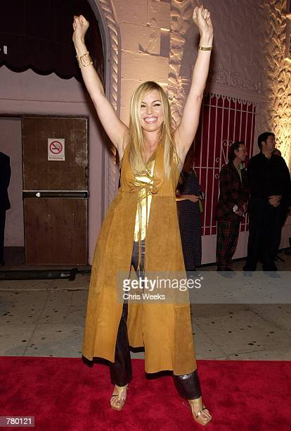 Recording artist Kristine W arrives at a party to launch Madonna's new album 'Music' September 19 2000 in Los Angeles CA