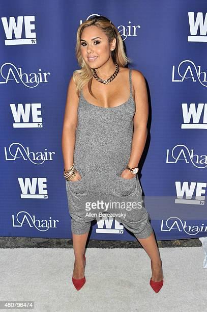 Recording artist Kristinia DeBarge attends the WE tv's LA Hair premiere party at Avalon Hollywood on July 14 2015 in Los Angeles California