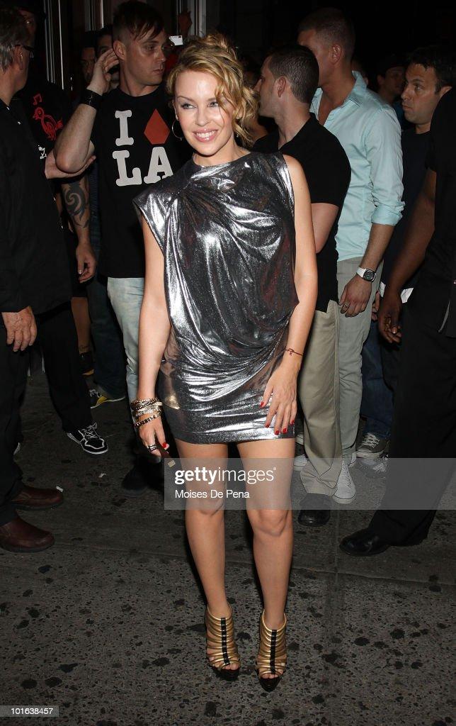 Recording Artist Kylie Minogue visits Splash Bar on June 4, 2010 in New York City.