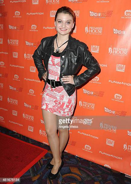 Recording artist Laci Kay attends the premiere of 'Dragon Ball Z Battle Of Gods' at Regal Cinemas LA Live on July 3 2014 in Los Angeles California