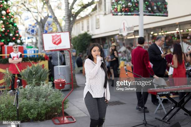 Recording Artist Laci Kay performs at The Salvation Army Celebrity Kettle Kickoff Red Kettle Hollywood at the Original Farmers Market on November 30...