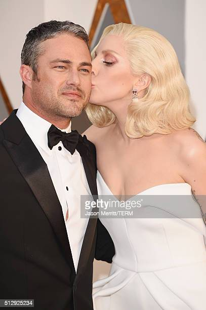 Recording artist Lady Gaga and actor Taylor Kinney attend the 88th Annual Academy Awards at Hollywood & Highland Center on February 28, 2016 in...