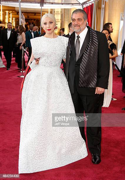 Recording artist Lady Gaga and Joseph Germanotta arrive at the 87th Annual Academy Awards at Hollywood Highland Center on February 22 2015 in Los...