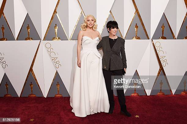 Recording artist Lady Gaga and songwriter Diane Warren attend the 88th Annual Academy Awards at Hollywood Highland Center on February 28 2016 in...