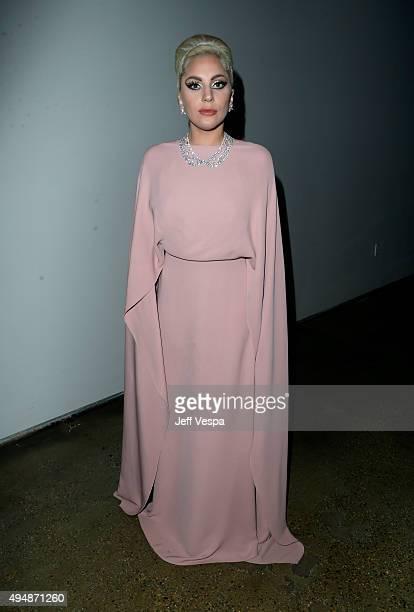 Recording artist Lady Gaga attends amfAR's Inspiration Gala Los Angeles at Milk Studios on October 29 2015 in Hollywood California