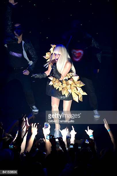 Recording artist Lady Gaga attends the 2009 New Years Eve Ball at Webster Hall on December 31 2008 in New York City