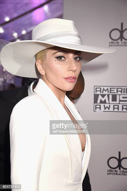 Recording artist Lady Gaga attends the 2016 American Music Awards at Microsoft Theater on November 20 2016 in Los Angeles California