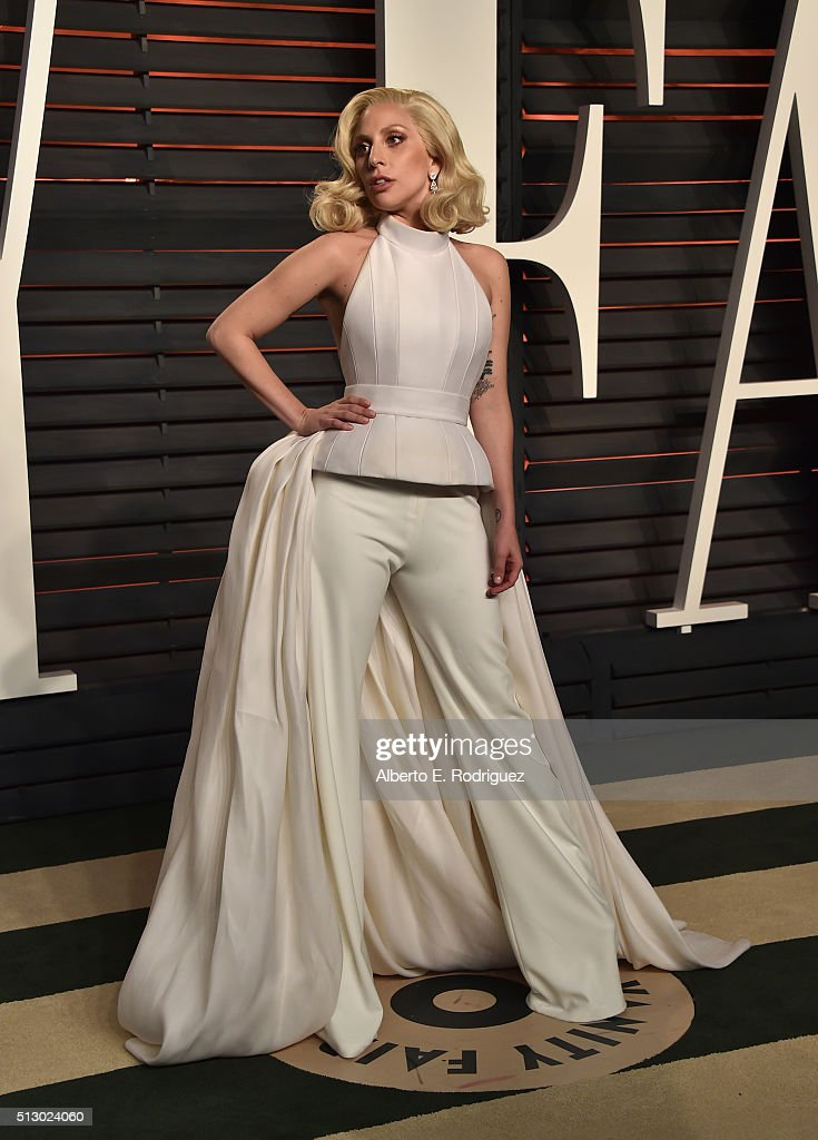 Recording artist Lady Gaga attends the 2016 Vanity Fair Oscar Party hosted By Graydon Carter at Wallis Annenberg Center for the Performing Arts on February 28, 2016 in Beverly Hills, California.