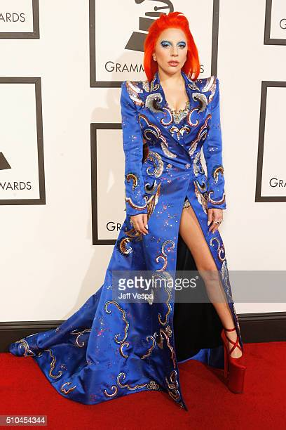 Recording artist Lady Gaga attends The 58th GRAMMY Awards at Staples Center on February 15 2016 in Los Angeles California