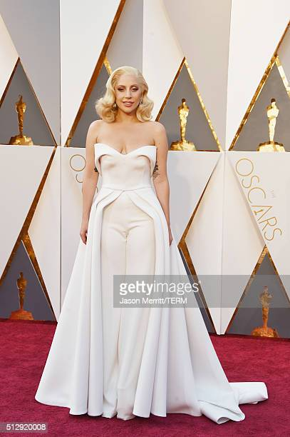 Recording artist Lady Gaga attends the 88th Annual Academy Awards at Hollywood & Highland Center on February 28, 2016 in Hollywood, California.