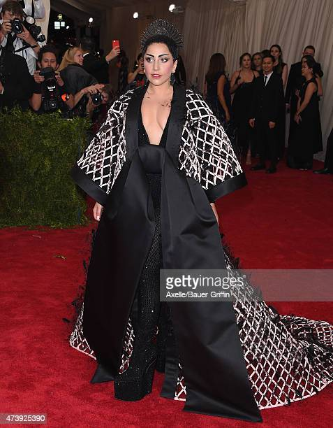 Recording artist Lady Gaga attends the 'China Through The Looking Glass' Costume Institute Benefit Gala at the Metropolitan Museum of Art on May 4...