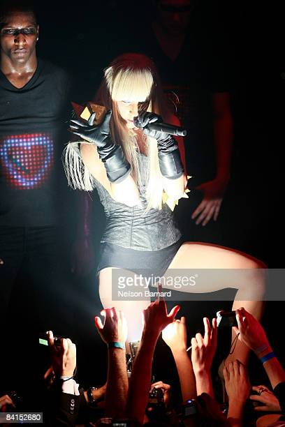 Recording artist Lady Gaga performs at the New Year's Eve Ball 2009 at Webster Hall on December 31 2008 in New York City