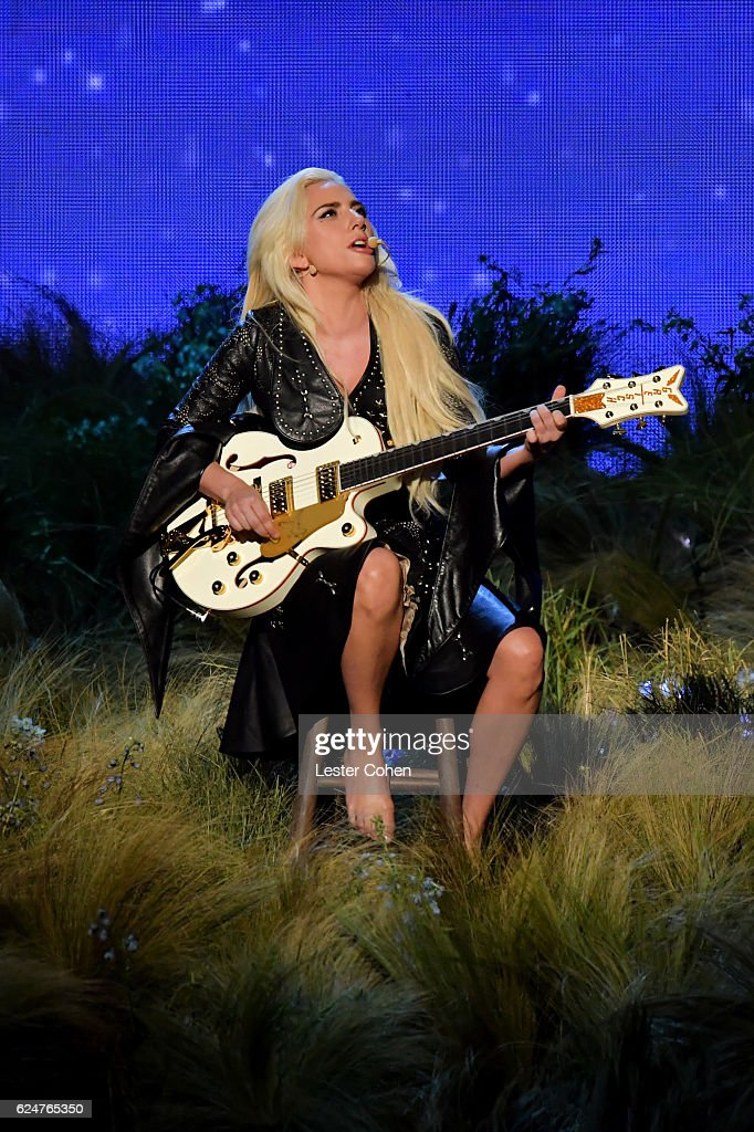 Recording artist Lady Gaga performs onstage at the 2016 American Music Awards at Microsoft Theater on November 20, 2016 in Los Angeles, California.