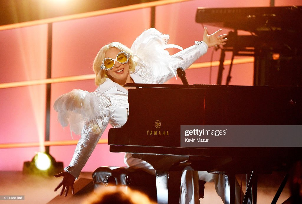 Recording artist Lady Gaga performs onstage during 60th Annual GRAMMY Awards - I'm Still Standing: A GRAMMY Salute To Elton John at the Theater at Madison Square Garden on January 30, 2018 in New York City.